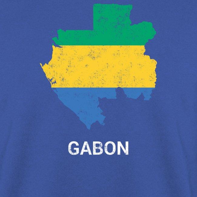 Gabon (République gabonaise) country map & flag