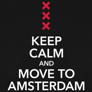 keep calm move to Amsterdam Holland Kreuz Cross - Männer Pullover