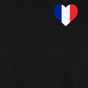 France Flag Shirt Heart - French Shirt - Men's Sweatshirt
