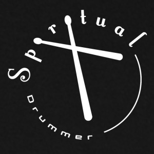 Spiritual Drummer Logo No. 2 White - Men's Sweatshirt