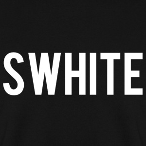 Swhite logo - Men's Sweatshirt