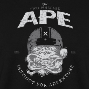 Two Wheeled Ape Windy Biker T shirt - Men's Sweatshirt