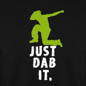 dab green man dabbing touchdown Football fun cool - Men's Sweatshirt