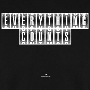 Everything Counts white - Men's Sweatshirt