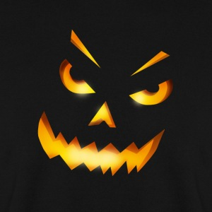 halloween pumpkin horror face grin fire - Men's Sweatshirt