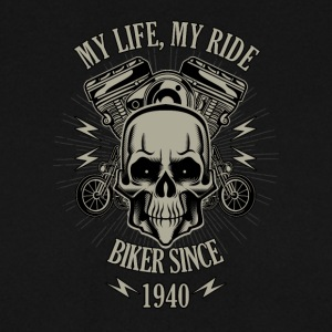Gift for Biker - built in 1940 - Men's Sweatshirt