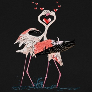 liefde flamingo - Mannen sweater