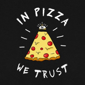 dans la pizza we Trust Illumination oeil pyramide Humour - Sweat-shirt Homme