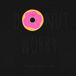 donut worry be happy - Männer Pullover