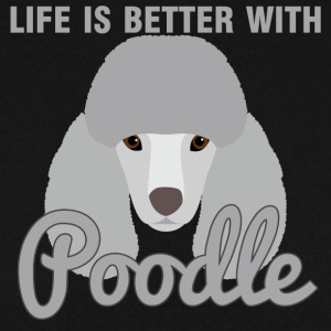 Hund / Pudel: Life Is Better With Poodle - Männer Pullover