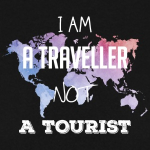 I am a traveller not a tourist - Männer Pullover