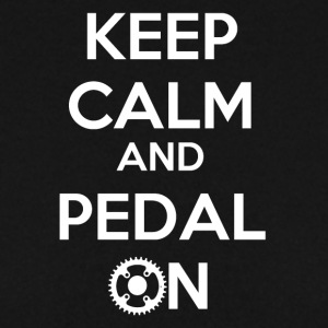 Keep Calm and Pedal On! - Männer Pullover
