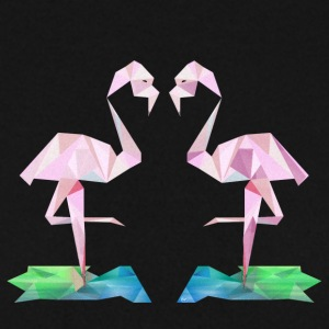Low-poly Flamingo - Mannen sweater