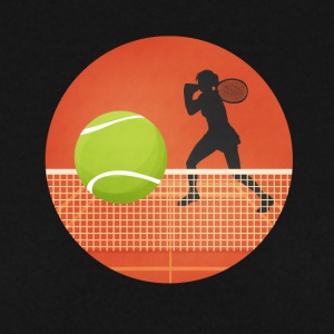 Tenniskreis with player and ball - Men's Sweatshirt