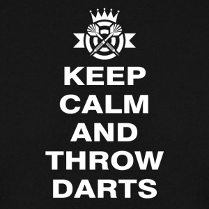 Keep Calm og kaste dart - Genser for menn