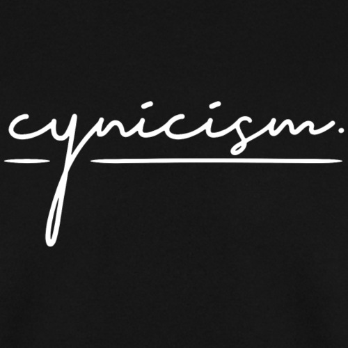 CYNICISM BLACK - Men's Sweatshirt