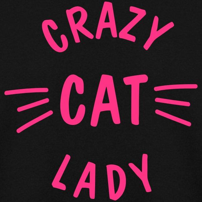 Vorschau: Crazy Cat Lady meow - Unisex Pullover