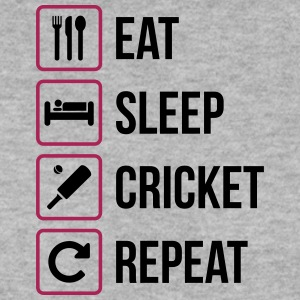 Eat Sleep Cricket Repeat - Männer Pullover