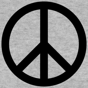 Peace Sign Filled Black - Männer Pullover
