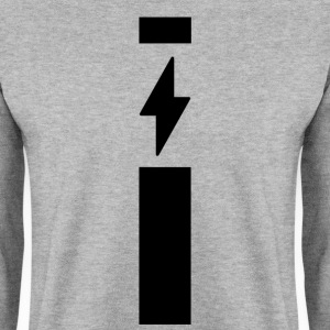 Lightning with strip - Men's Sweatshirt