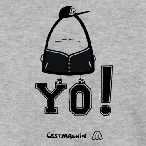Yo Black and White - Sweat-shirt Homme