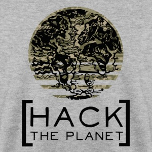 Hack the planet Motto T-Shirt Camouflage - Männer Pullover