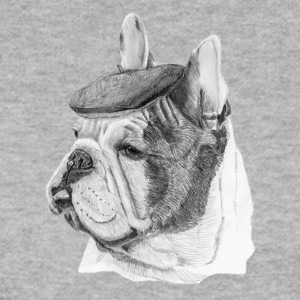 French Bulldog w / report - Men's Sweatshirt