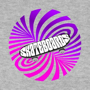 Skate illusion optical art skateboard vintage half - Men's Sweatshirt