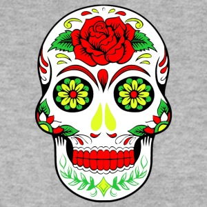 Rainbow Flower Hippy Skull Design - Men's Sweatshirt