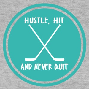 Eishockey: Hustle, Hit and never Quit. - Männer Pullover