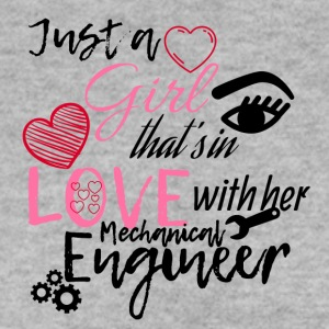 A girl is in love with her mechanical engineer - Men's Sweatshirt