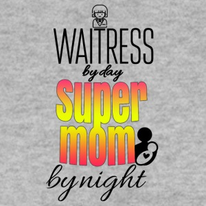 Waitress by day super mom by nights - Männer Pullover