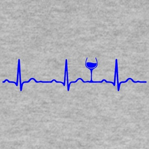 ECG HEARTBEAT WINE blauw - Mannen sweater