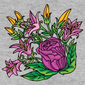 1purple flowers - Men's Sweatshirt
