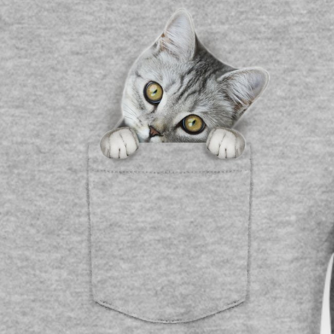 cat pocket - Unisex Pullover