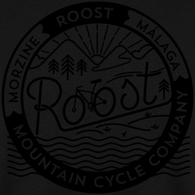roost badge black no dots