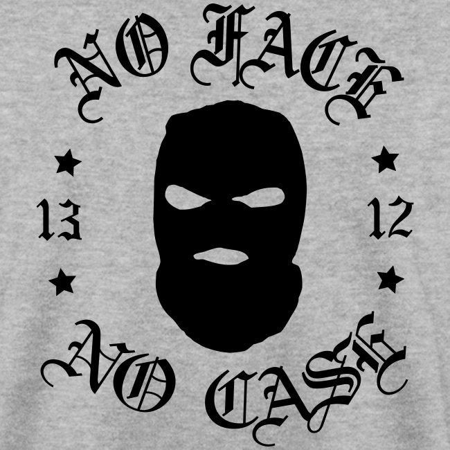 No Face, No Case - Skimask - musta iso printti