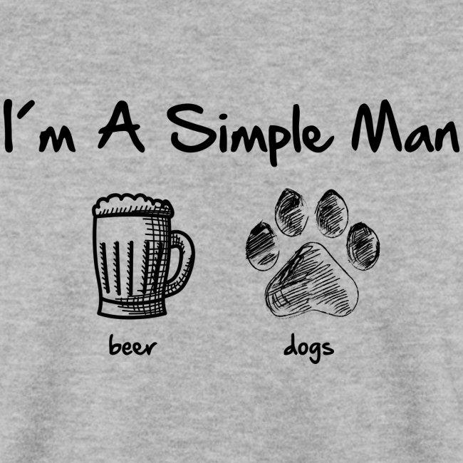 Vorschau: simple man dogs beer - Unisex Pullover