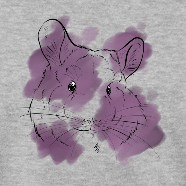 Violet splash chinchilla