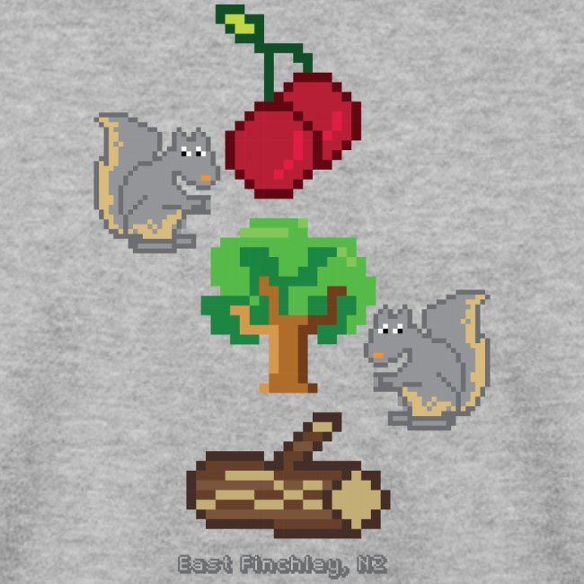8 Bit Style Cherry Tree Wood Graphic