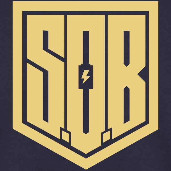 Sons of Battery - Modern S.O.B Logo