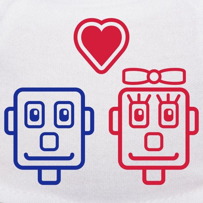 Motif Robots Amoureux