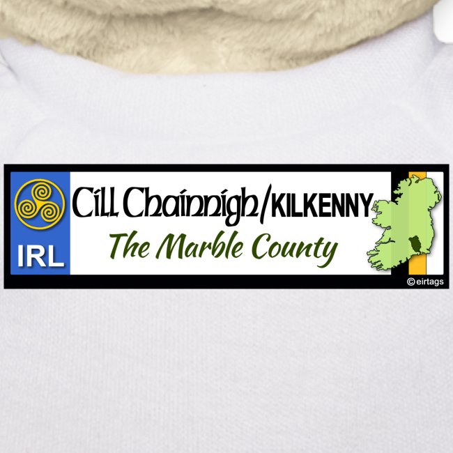 KILKENNY, IRELAND: licence plate tag style decal
