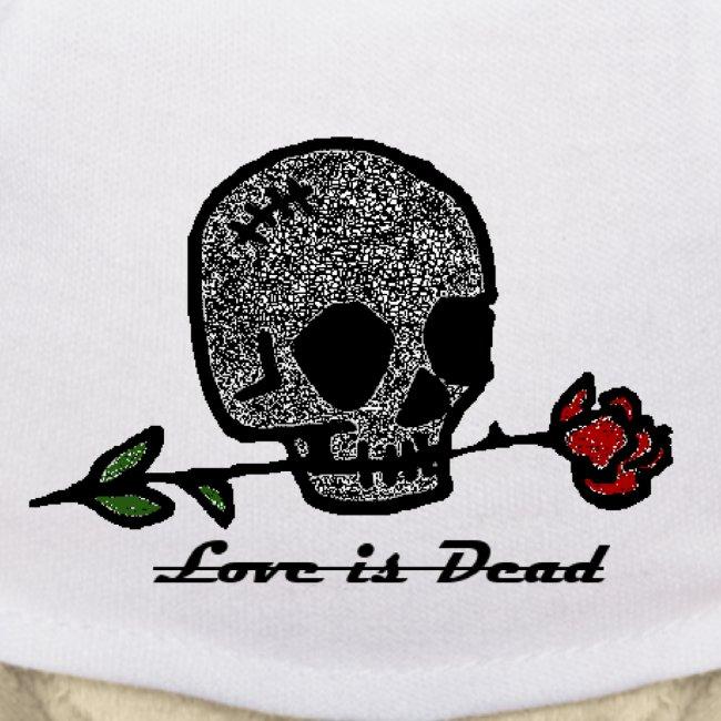 Love Is Dead Custom Skull Design