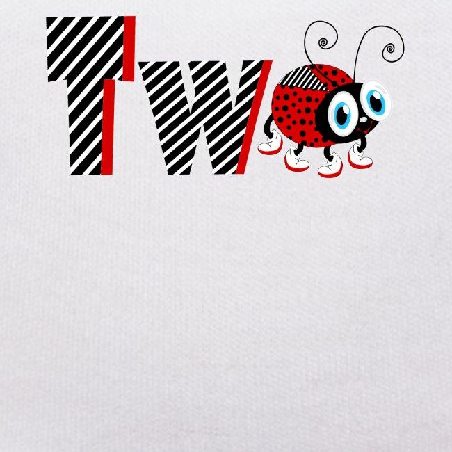 T-shirt da regalo per 2 anni della famiglia Coccinella