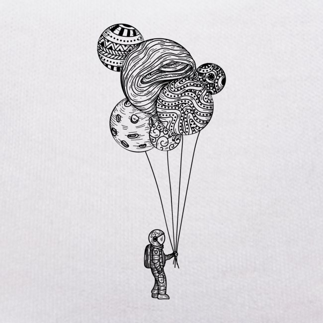 Astronaut with balloons
