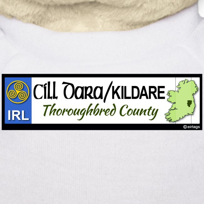 KILDARE, IRELAND: licence plate tag style decal
