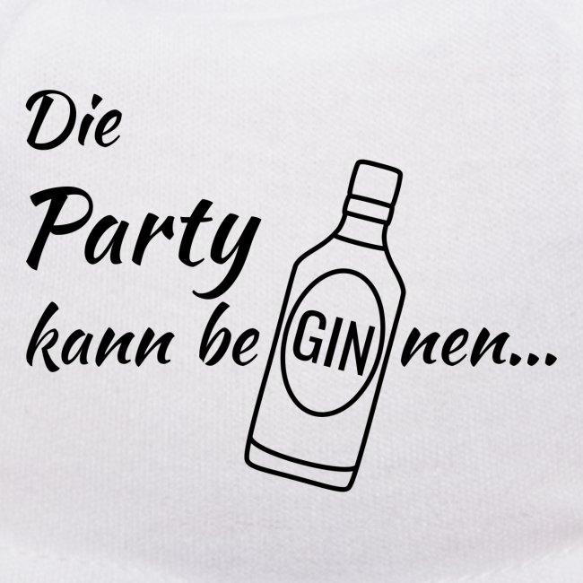 Simsalapimp Gin Flasche Spruch Die Party Kann Beginnen Schwarz Teddy