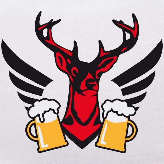 Hirsch Fluegel Mass Bier Bierkrüge zum Anstossen