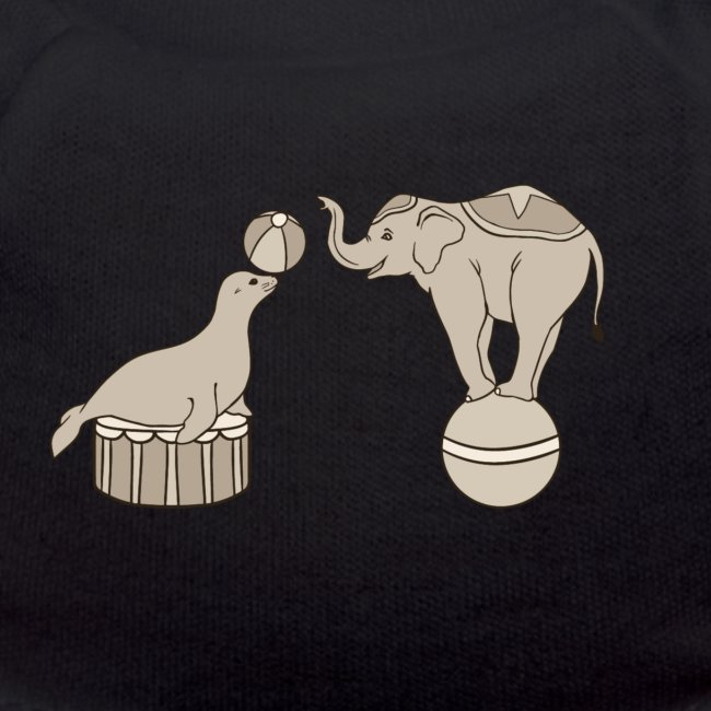 Circus elephant and seal